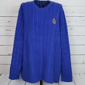 Ralph Lauren Chunky Cable Knit Sweater w/Crest